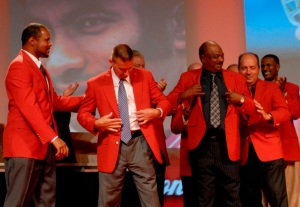 Red's Hall of Famers during the 2010 induction ceremony