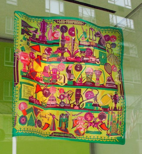 While Hermes isn't on Madison, this scarf represented the colors I was noticing.