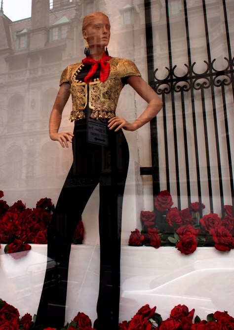 Ralph Lauren's Madison Avenue window with great embroidered Bolero jacket