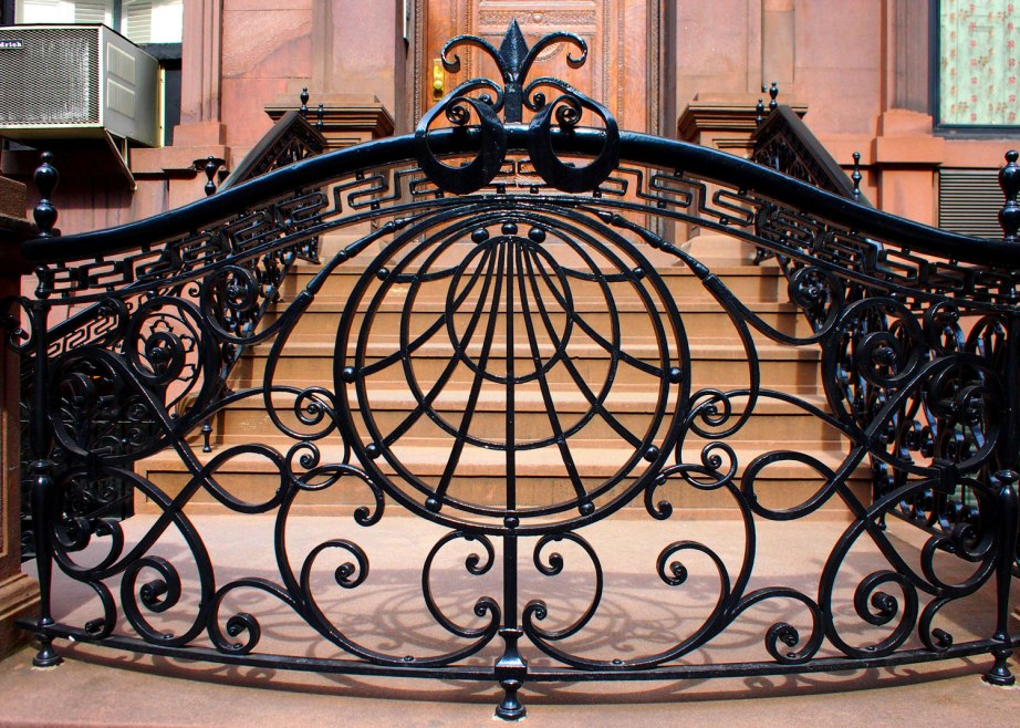 Nice rounded flowing wrought iron