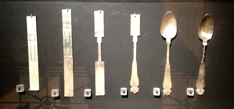 A display of the making of a spoon